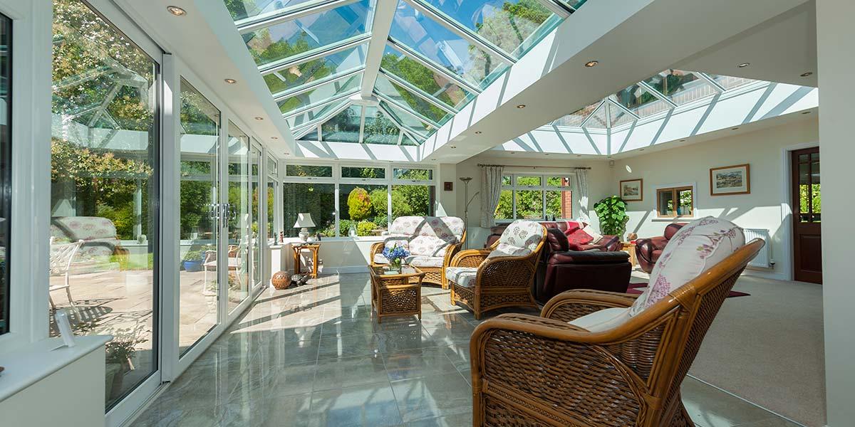 Bespoke Conservatory Internal View To Garden