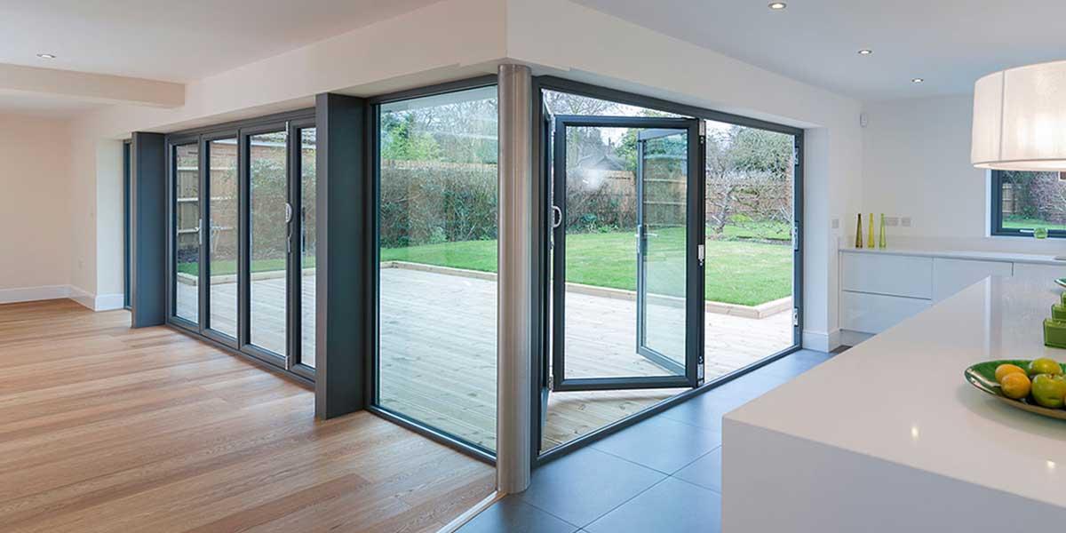 Bi fold doors worcester bi folding doors kidderminster for 5 star windows and doors
