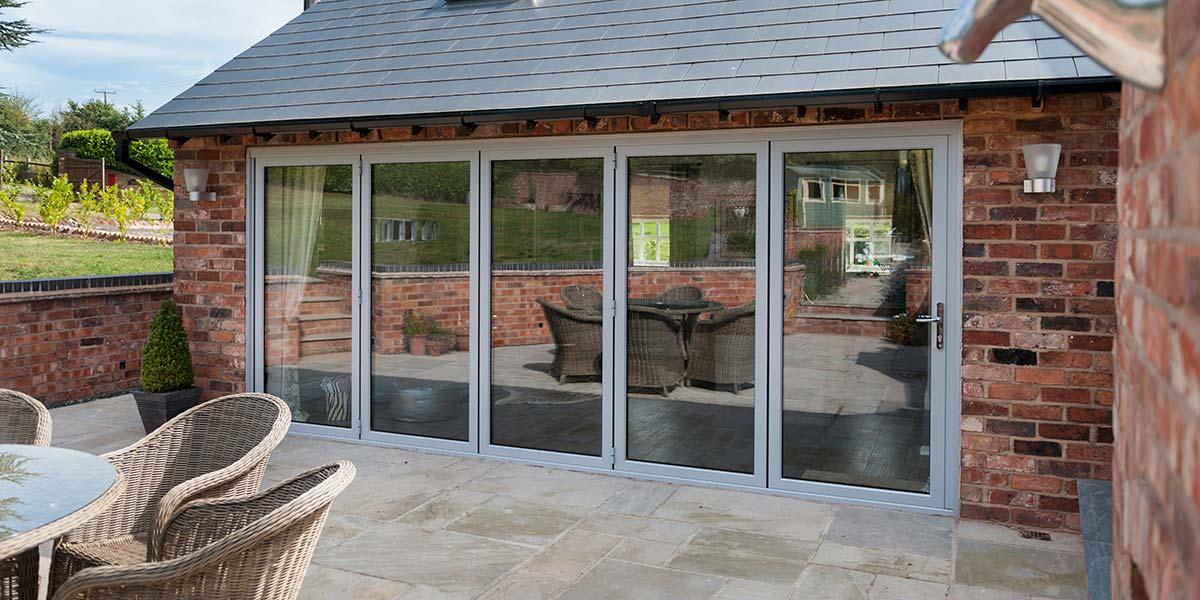 Bi fold doors worcester bi folding doors kidderminster for 5 star windows