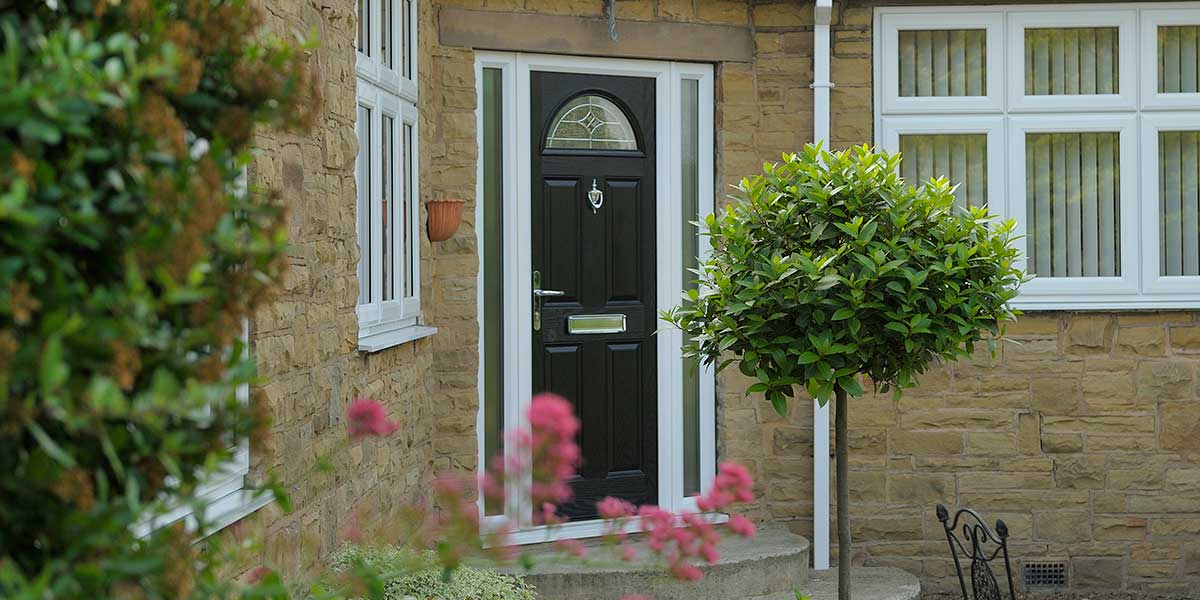 Black Composite Door