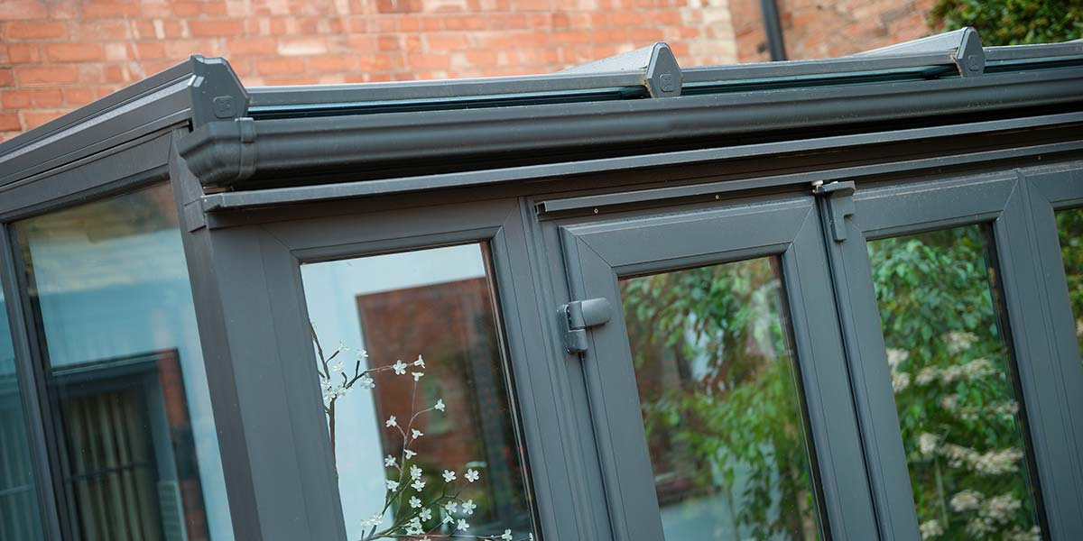 Modern Lean To Conservatory Finished In Grey Upvc By 5