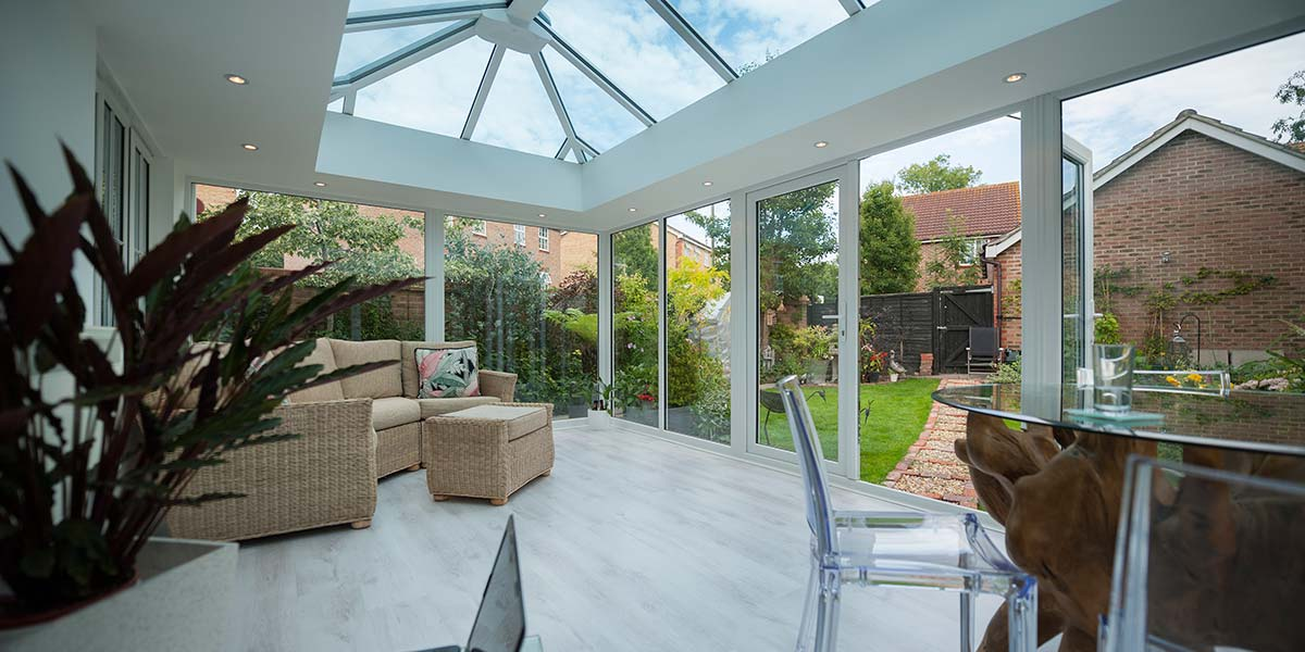 Glass-To-Floor Edwardian Conservatory Internal View