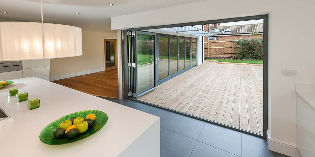 Grey Bi Folding Doors Aluminium Windows Amp Bi Folding