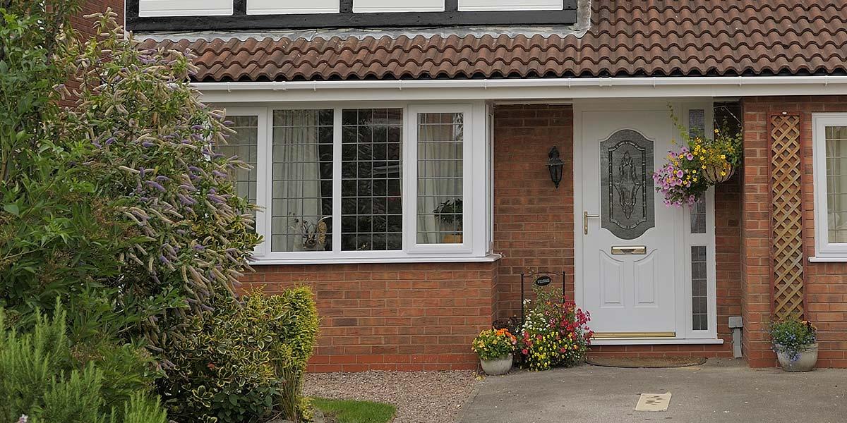 White Leaded Upvc Windows Composite Door From 5 Star