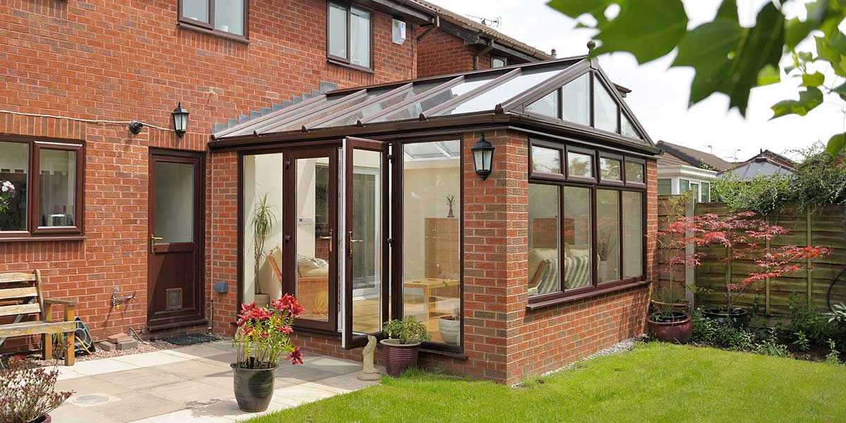 Modern Orangery With Gable Front
