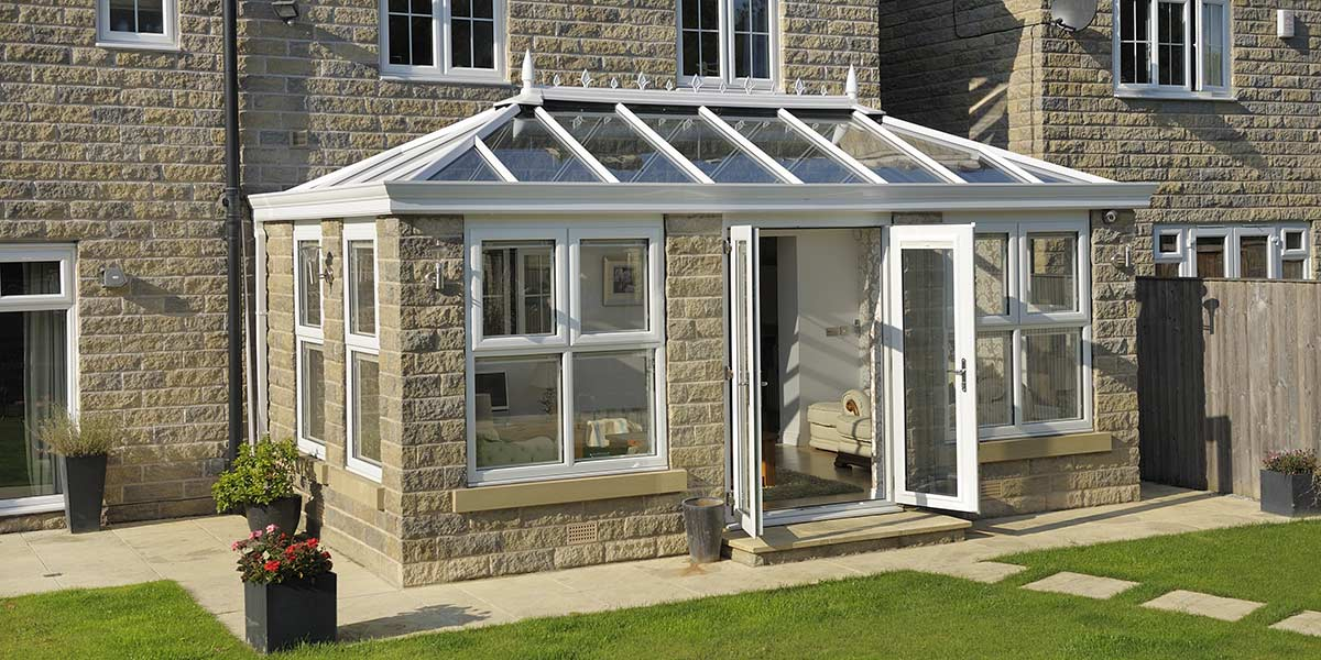Livin Room Orangery with French Doors