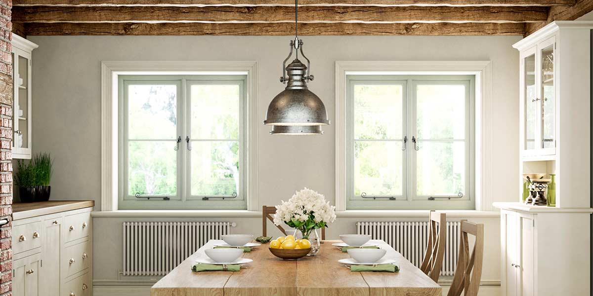 Olive Grey Flush Casement Windows