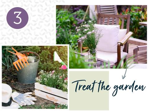 Treat the garden